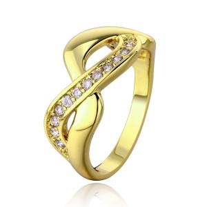 Infinity , inel placat cu aur de 18 k , cu pietricele zirconia - 6823O921