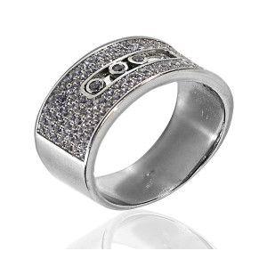 Fergie, inel argint 925, rodiat stil modern