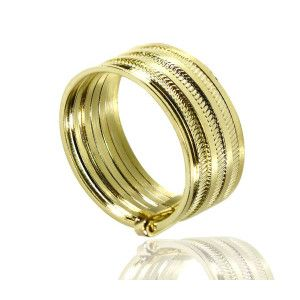 Happy week, inel placat cu aur de 18 k, productie brazilia, 2 microni, model fara pietre