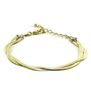 Emma, bratara placata cu aur de 18k, colectia Golden Shine
