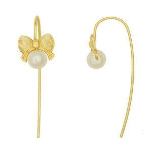 Colectia pearls, cercei placati cu aur de 18k-2 microni, productie Brazilia - 6892O814