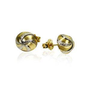 Cercei placati cu aur, colectia Golden Shine-6925O821