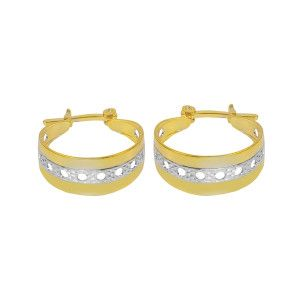 Cercei placati cu aur, colectia Golden Shine-6953O818