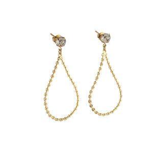 Cercei placati cu aur, colectia Golden Shine-7050O834