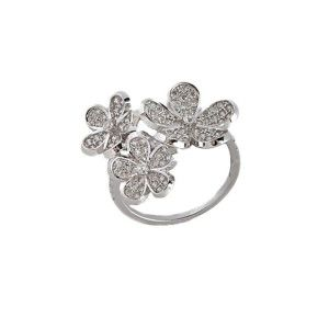 Inel argint 925, placat cu rodiu, design italian - 7137O946