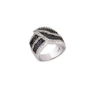 Two tone, inel argint 925, rodiat - 7162O9110