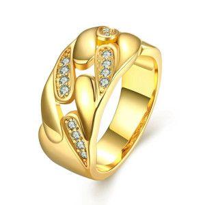 Clasic line, inel placat cu aur de 18k, 2 microni - 7176O924