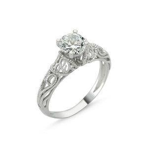 Akira, inel argint 925, rodiat, model dantelat 7308O924