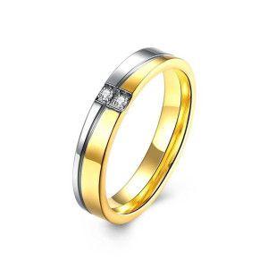 Infinity, inel placat cu aur de 18 k si rodiu - 7322O922