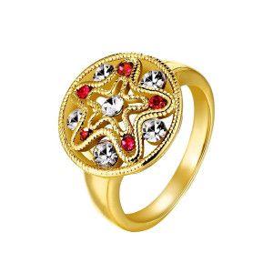 Multistone, inel placat cu aur de 18 k - 7327O922