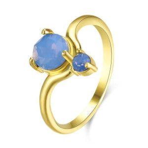 Blue style, inel placat cu aur de 18 K, colectia Golden Shine - 7329O919