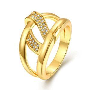 Inel placat cu aur de 18 K, colectia Golden Shine - 7331O922
