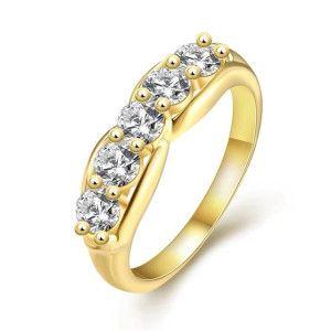 Inel placat cu aur de 18 K, colectia Golden Shine - 7332O922