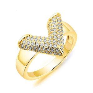 Inel placat cu aur de 18 K, colectia Golden Shine - 7334O924