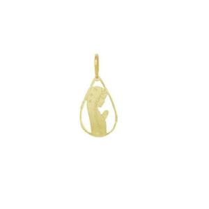 Pandantiv placat cu aur de 18 k, 2 microni, productie Brazilia-7345O76