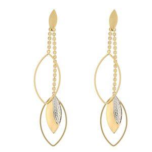 Cercei placati cu aur de 18 k, productie lux Brazilia -7356o849