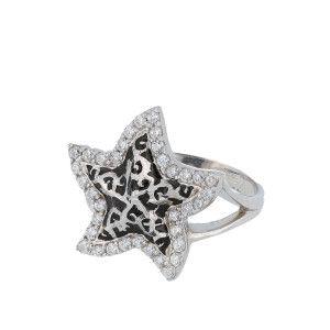 Inel argint 925, rodiat, cu cristale zirconia - 7383O940