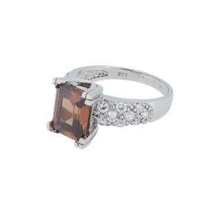 Inel argint 925, rodiat, designa italian, marimea 55 - 7390O960