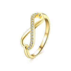 Intinity, inel placat cu aur de 18 k, cu cristale zirconia montura micropave- 7401O917