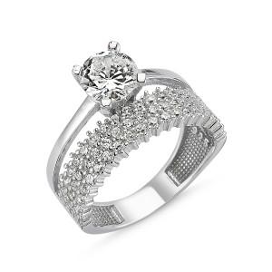 Inel argint 925, colectia wedding, rodiat cu pietre zirconia - 7415O945