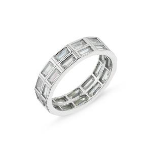 Inel argint 925, rodiat colectia Eternity - 7416O939