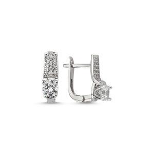 Cercei argint 925, rodiat, inchidere clasica- 7429O831