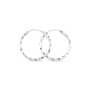 Cercei argint 925, rodiat,model creola rasucita - 7431O828