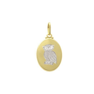 Pandantiv placat cu aur de 18 k, 2 microni, productie Brazilia 7501O710