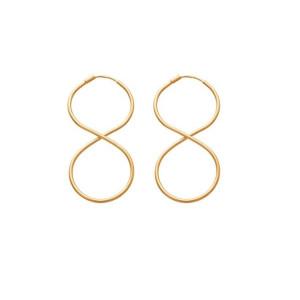 Cercei placati cu aur de 18 k, 2 microni, productie Brazilia  , model infinit 7490O829