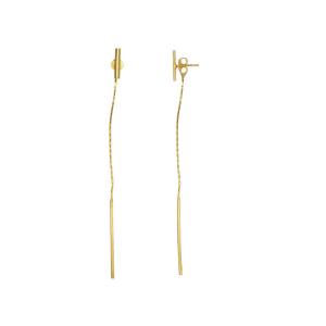 Cercei placati cu aur de 18 k, 2 microni, productie Brazilia  , 7491O819