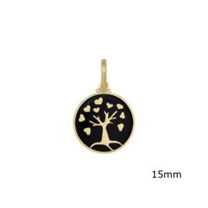 Pandantiv placat cu aur de 18 k, 2 microni, productie Brazilia 7498O78