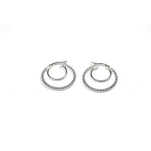 Cercei argint 925, model creola, 7509O824