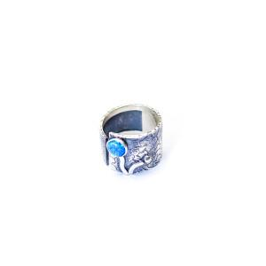Inel argint 925, model vintage , cu piatra naturala opal 7513O982