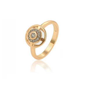 Inel placat cu aur de 18 k,  microni, cu pietre zirconia albe 7526O921