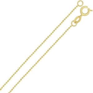 Lant placat cu aur de 18 k, 2 microni, productie Brazilia, model cu bilute diamantate7558O316