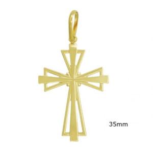 Pandantiv placat cu aur 18 k, 2 microni, productie Brazilia, model religios 7595O713