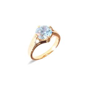 Inel placat cu aur de 18 k, model Solitair, colectia onlinebijoux, 7632O922