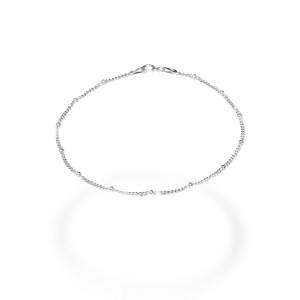 Bratara argint 925, rodiata , model cu bilute , lungime 19 cm  7688O814
