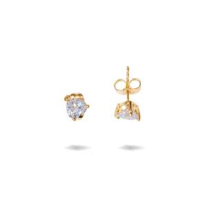 Cercei placati cu aur 18 K, inchidere clasica cu fluturas - 7733O814
