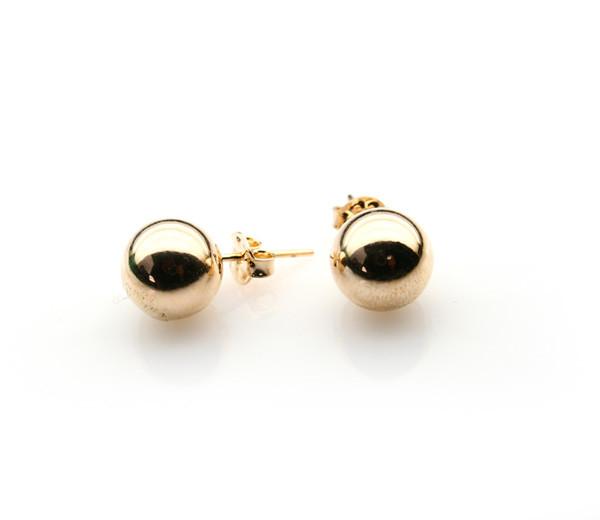 Betsy, Cercei placati cu aur de 18 k, colectia Golden Ball