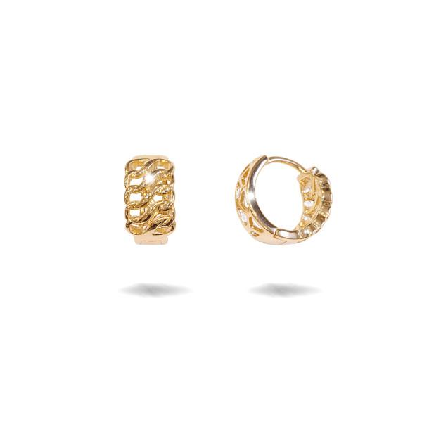 Cercei placati cu aur 18 K, fara pietre , model creola - 7720O814