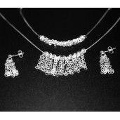 Set argint 925 rodiat:  cercei, lant, bratara, design italian,- 1709O577