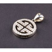 Pandantiv argint 925, design italian. Pietre: zirconia - 2361O7100