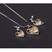 Set argint 925 rodiat, cu elemente swarovski - 5165O5120