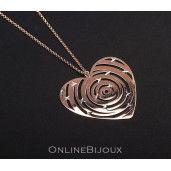 Rose, colier argint 925, placat cu aur roz, un cadou special pentru cei dragi