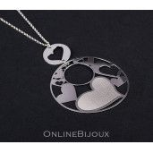 Colier argint 925 rodiat, design italian - 5661O379