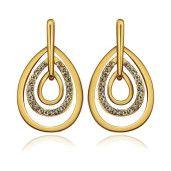 Cercei placati cu aur, colectia Golden Shine-6704O818