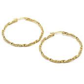 Cercei placati cu aur 18 K, model creola -6739O813