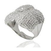 Betsy, inel argint 925, model masiv, design italia, cu pietre zirconia