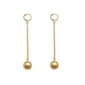 Cercei placati cu aur de 18 k, colectia Golden Ball -7348O817
